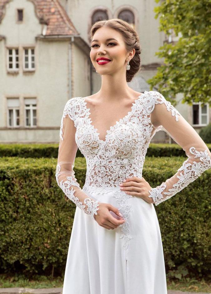 Peinados para novias segun vestido
