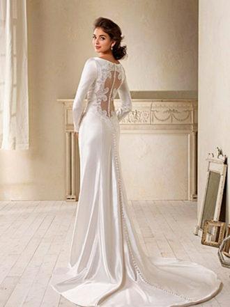 espalda de novia con vestido de Crepúsculo diseñado por Carolina Herrera