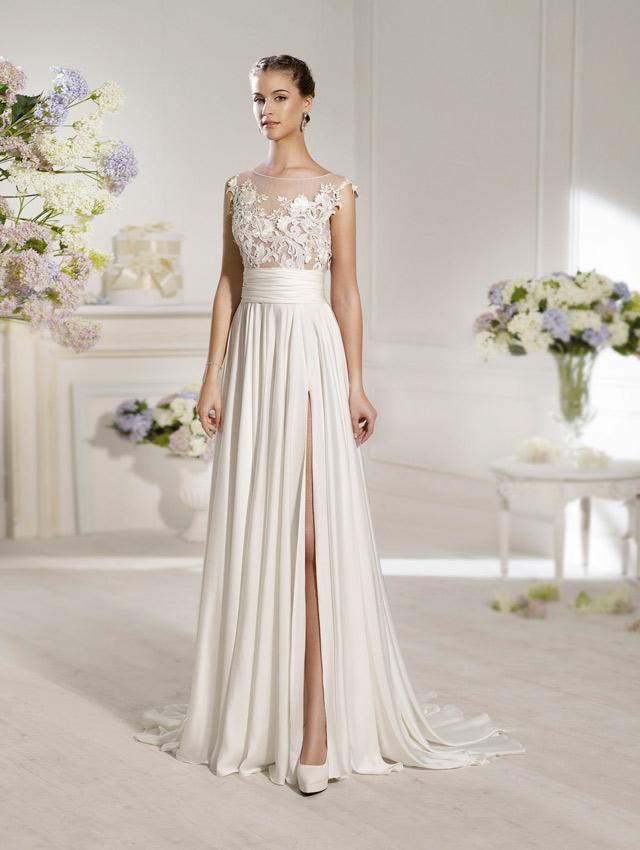 novia romántica con vestido de Novia d'Art