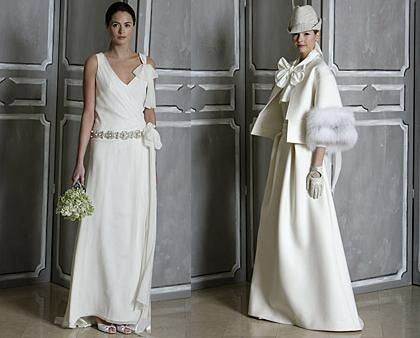 propuestas de vestidos de novia vintage de Carolina Herrera