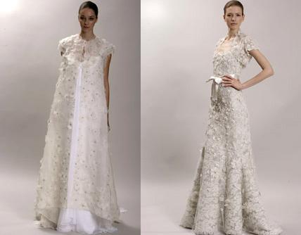 propuestas de vestidos de novia vintage de Monique Lhuillier