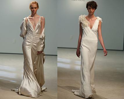 propuestas de vestidos de novia vintage de Vera Wang