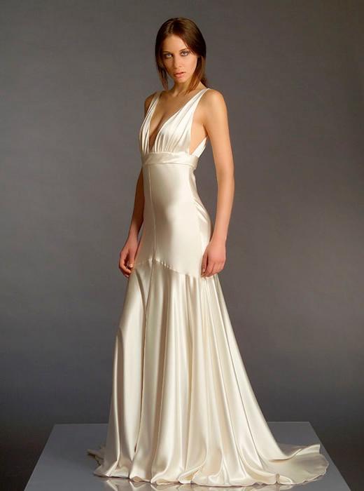 novia con vestido de seda dupoint