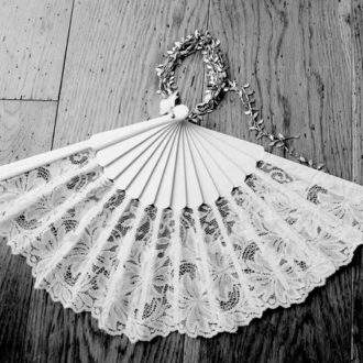 abanico de novia de encaje