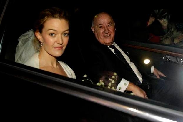 Marta Ortega en el coche el día de su boda con Amancio Ortega