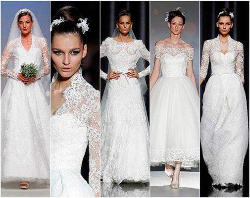 diferentes propuestas de tendencias en vestidos de novia 2012