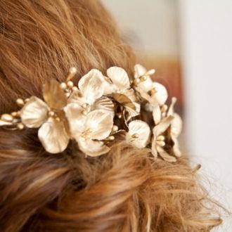 peinado trenzado con corona