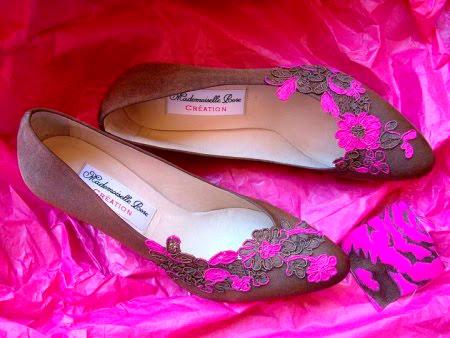 zapatos para novia de Mademoiselle Rose en color rosa