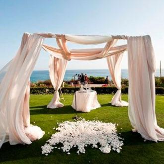 carpa blanca para boda al aire libre