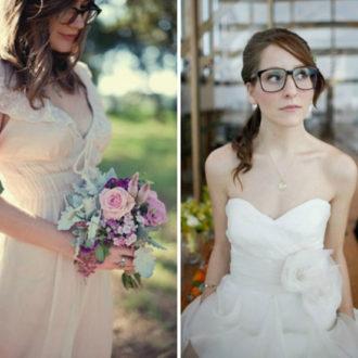 dos novias con gafas
