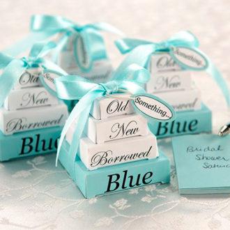 detalles para una boda en color azul