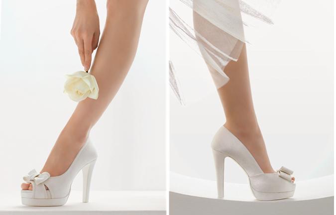dos propuestas de zapatos de novia altos