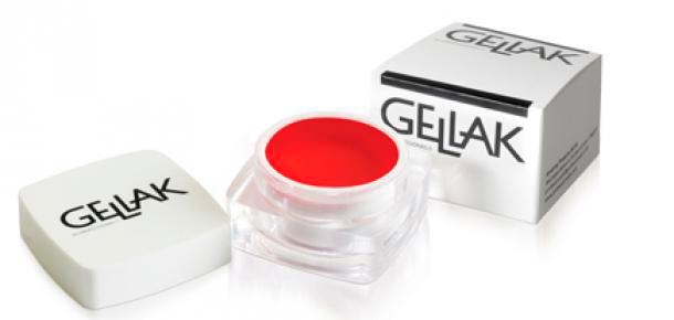 esmalte de uñas permanente Gellak en color rojo