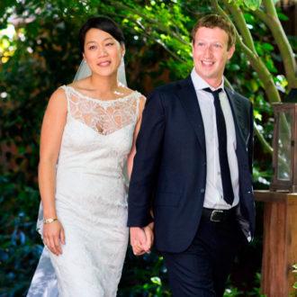 Mark Zuckerberg y Priscila Chan recién casados