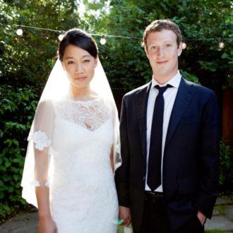foto de pareja de Mark Zuckerberg y Priscila Chan posando ante la cámara