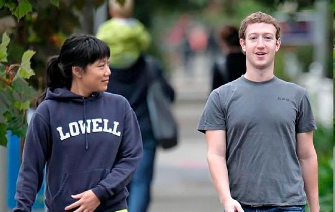 Mark Zuckerberg y Priscila Chan en una situación de complicidad