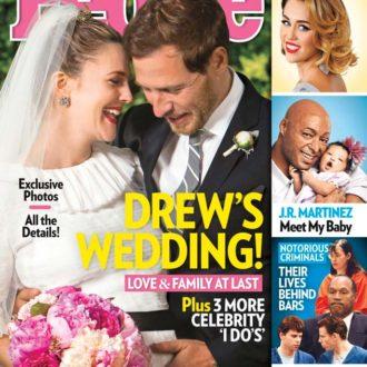 portada de la revista People con la boda de Drew Barrymore y Will Kopelman