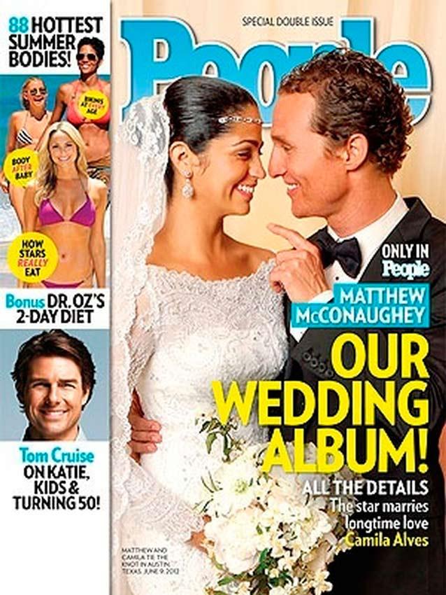 portada de la revista People con la boda de Matthew McConaughey