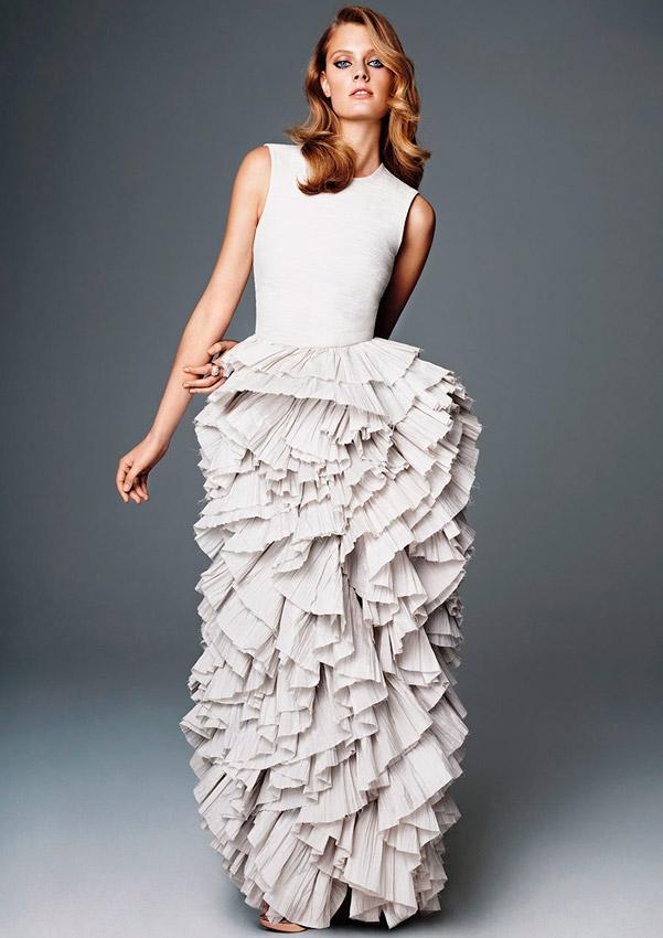 novia con vestido de H&M de algodón orgánico