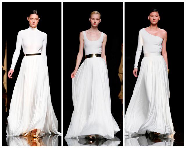 diferentes propuestas de vestidos de novia urbanos de Rosa Clará