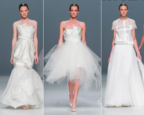 diferentes propuestas de vestidos de novia urbanos de Jesús del Pozo