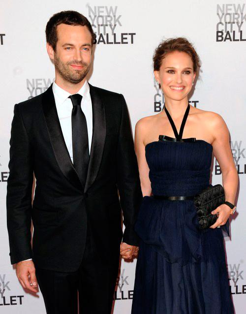 foto de pareja de Natalie Portman y Benjamin Millepied