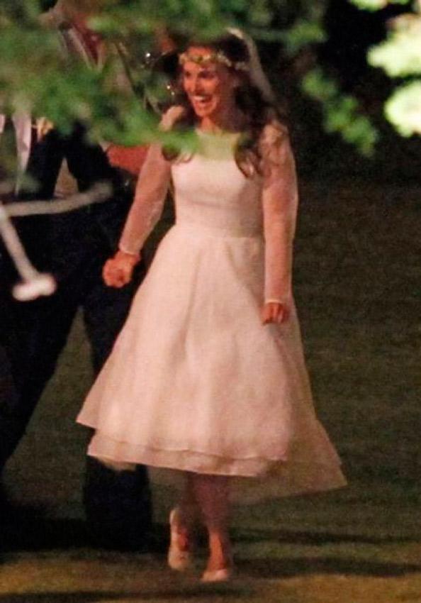 Natalie Portman vestida de novia