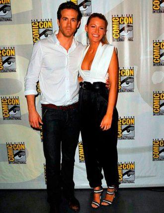 foto de pareja de Blake Lively y Ryan Reynolds en la Comic-Con