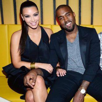 Kim Kardashian y Kanye West en la inauguración de un restaurante