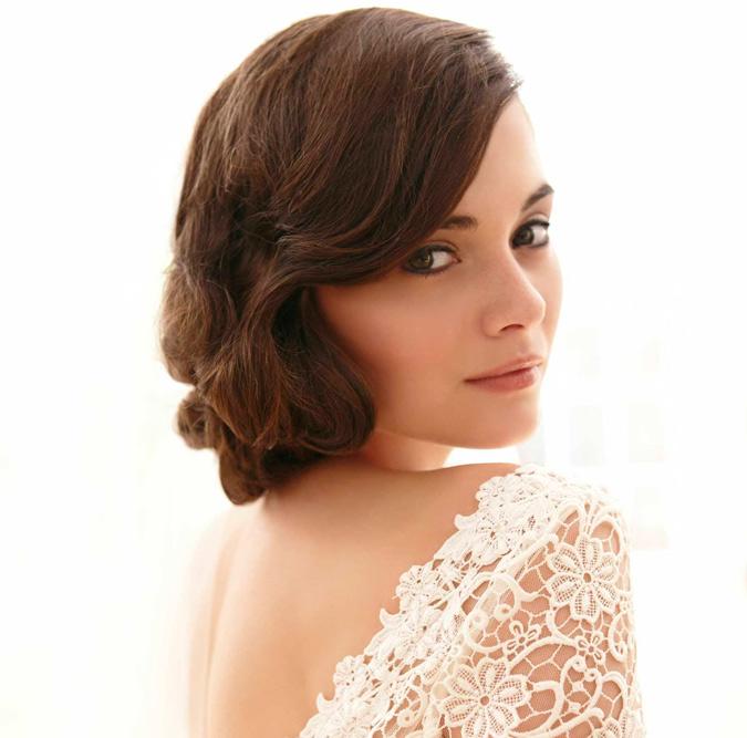 Elegante peinados pelo.corto Galería de tendencias de coloración del cabello - Pelo corto para la boda | Vestidosdenovia.com