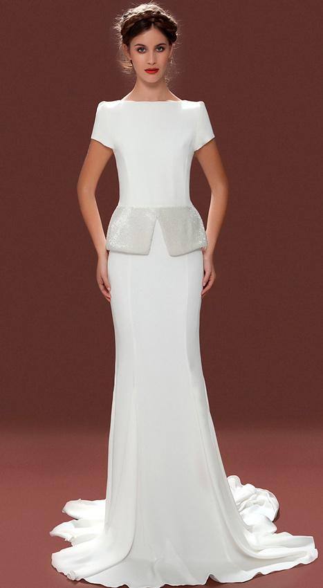 vestidos de novia con péplum | vestidosdenovia