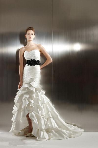 Vestido novia sirena palabra de honor