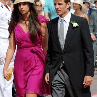 foto de pareja de Andrea Casiraghi y Tatiana Santo Domingo en una celebración