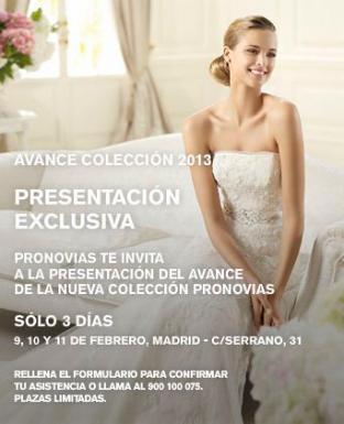 flyer promocional de la jornada de puertas abiertas de Pronovias