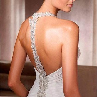 vestido de novia con escote en la espalda 2