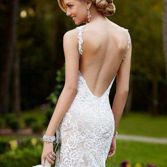 vestido de novia con escote en la espalda 4