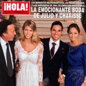portada de la revista HOLA con la boda de Julio José y Charisse Verhaert