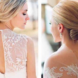 novias con vestidos con transparencias en la espalda