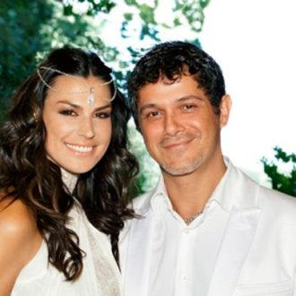 Alejandro Sanz y Raquel Perera recién casados
