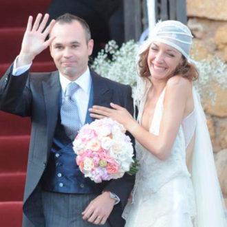 Andrés Iniesta y Anna Ortiz recién casados