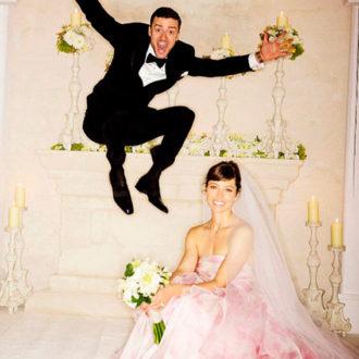 Justin Timberlake y Jessica Biel recién casados