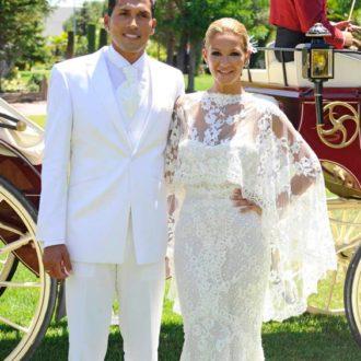 Ezequiel Garay y Tamara Gorro recién casados