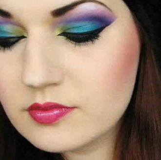 maquillaje novia inspirado en el pavo real - novia maquillada