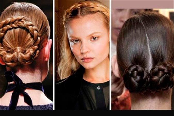 diferentes propuestas de peinados de novia con trenzas