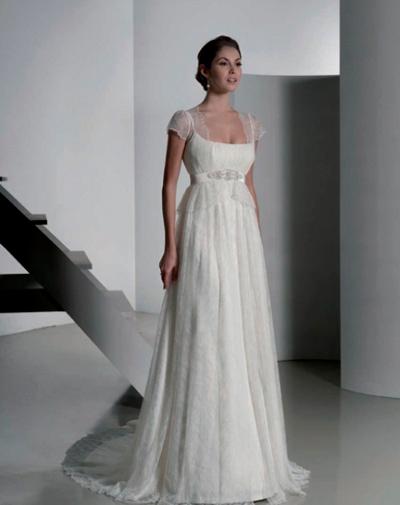 vestidos de novia corte imperio con manga – vestidos de boda