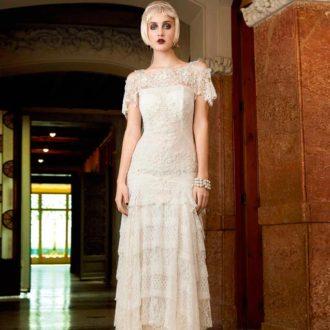 novia con vestido estilo Gran Gatsby de YolanCris