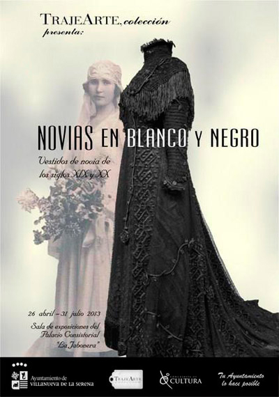cartel promocional de la exposición Trajearte de vestidos de novia