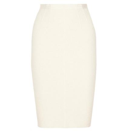 falda blanca de tubo para novia de Nina Ricci