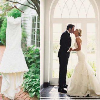 propuestas de vestidos de novia con cola en diferentes situaciones