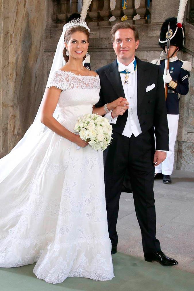 Magdalena de Suecia y Christopher O'Neil en su boda